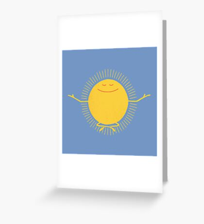 Sun Worshipper Greeting Card