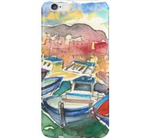 Boats In Porticello 01 iPhone Case/Skin
