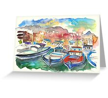 Boats In Porticello 01 Greeting Card