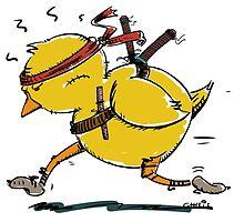Samurai fighting chicken by chrisbears