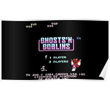 Ghosts 'N Goblins Title Screen Poster