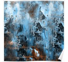 abstract blue 9,16 Poster