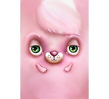 Cute Fluffy Monster in Pink Photographic Print