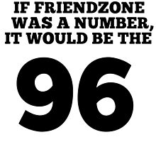 If friendzone was a number, it would be the 96 by Macaron