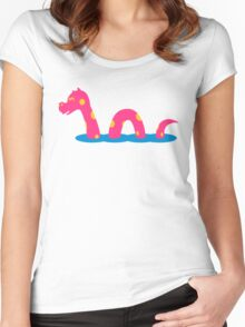Funny sea monster Women's Fitted Scoop T-Shirt