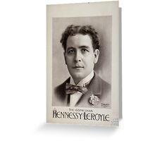 Performing Arts Posters Hennessy Leroyle the comedian 0457 Greeting Card