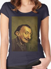 salvador dali / caricature Women's Fitted Scoop T-Shirt
