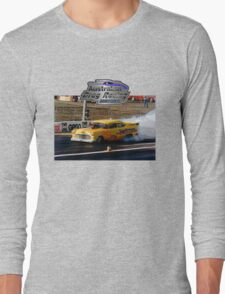 Australian Drag Racing History 55 Chev Retro Long Sleeve T-Shirt