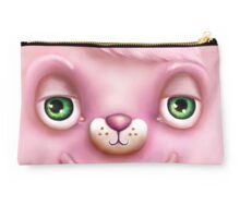Cute Fluffy Monster in Pink Studio Pouch