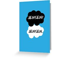 Jensen Ackles - TFIOS Greeting Card