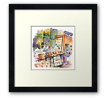 Cheese Stall In Siracusa Framed Print