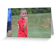 Soccer Game Pause Greeting Card