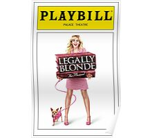 Legally Blond Playbill Poster