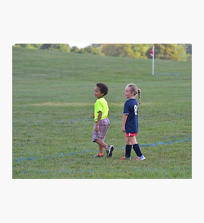 Playing on the Sidelines Photographic Print