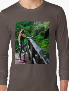 Checking Out The Chorros De Giron Long Sleeve T-Shirt