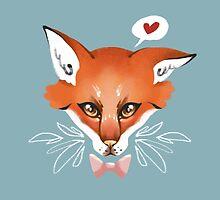 Awake Fox by Stanislava Korobkova