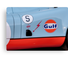 1969 Gulf Porsche 917, chassis 017/004 - driver side detail Canvas Print