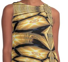 Golden Glow - Abstract Contrast Tank