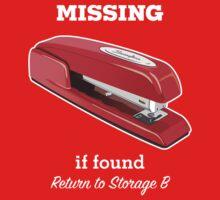 MiOffice Space Swingline Red Stapler Milton Storage B Kids Tee