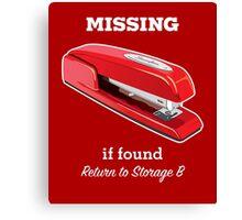 MiOffice Space Swingline Red Stapler Milton Storage B Canvas Print