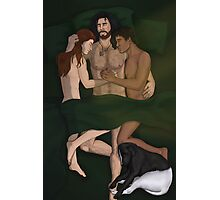 A Quiet Moment - Talon, Grimma, Kes, and Pants (art by Catherine Dair) Photographic Print