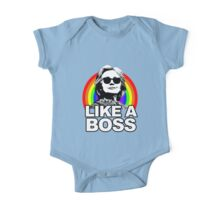Hillary Clinton Like a Boss Rainbow One Piece - Short Sleeve