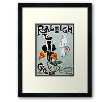 RALEIGH CYCLES; Vintage Bicycle Advertising Print Framed Print