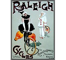 RALEIGH CYCLES; Vintage Bicycle Advertising Print Photographic Print