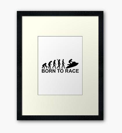 Evolution Jet Ski racing Framed Print