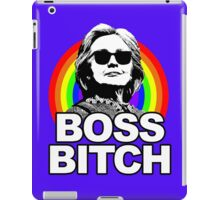 Hillary Clinton Boss Bitch Rainbow iPad Case/Skin