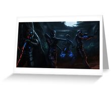 ORION - Space Ninjas Greeting Card