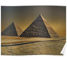 The Great Pyramid of Giza Cairo Egypt   Poster