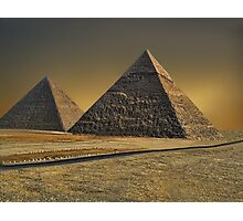 The Great Pyramid of Giza Cairo Egypt   Photographic Print