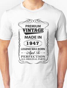 Premium Vintage 1947 Aged To Perfectio Unisex T-Shirt