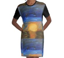 Moon rise. Graphic T-Shirt Dress
