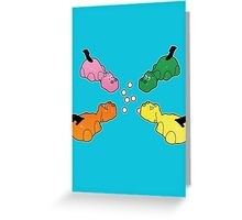 Hungry Hippos!! Greeting Card