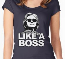 Hillary Clinton Like a Boss Women's Fitted Scoop T-Shirt