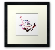 Never Grow Up Nebula  Framed Print