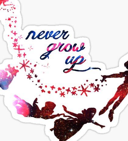 Never Grow Up Nebula  Sticker