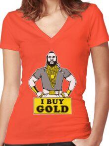 I Buy Gold Women's Fitted V-Neck T-Shirt