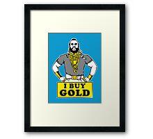 I Buy Gold Framed Print