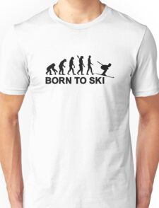 Evolution born to ski Unisex T-Shirt