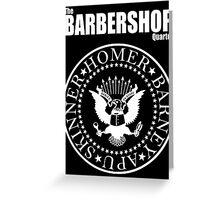 Homer´s Barbershop Quartet Greeting Card