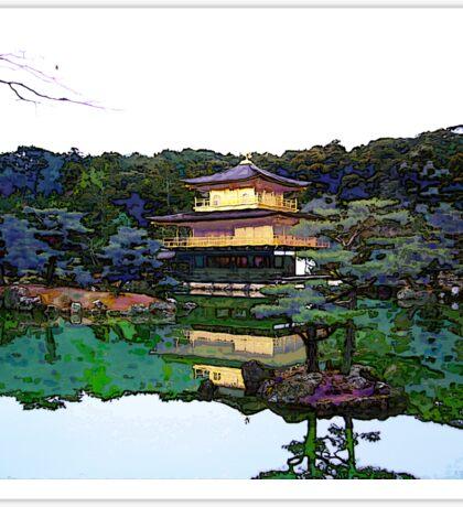 Zen Buddhist temple Kyoto Japan Sticker