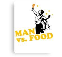 Man vs. food Canvas Print
