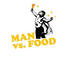 Man vs. food Photographic Print