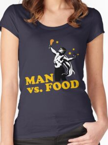Man vs. food Women's Fitted Scoop T-Shirt