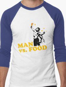 Man vs. food Men's Baseball ¾ T-Shirt
