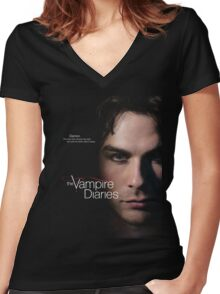 The Vampire Diaries Damon Quotes Women's Fitted V-Neck T-Shirt
