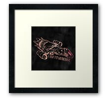 I Aim to Misbehave with Background Framed Print